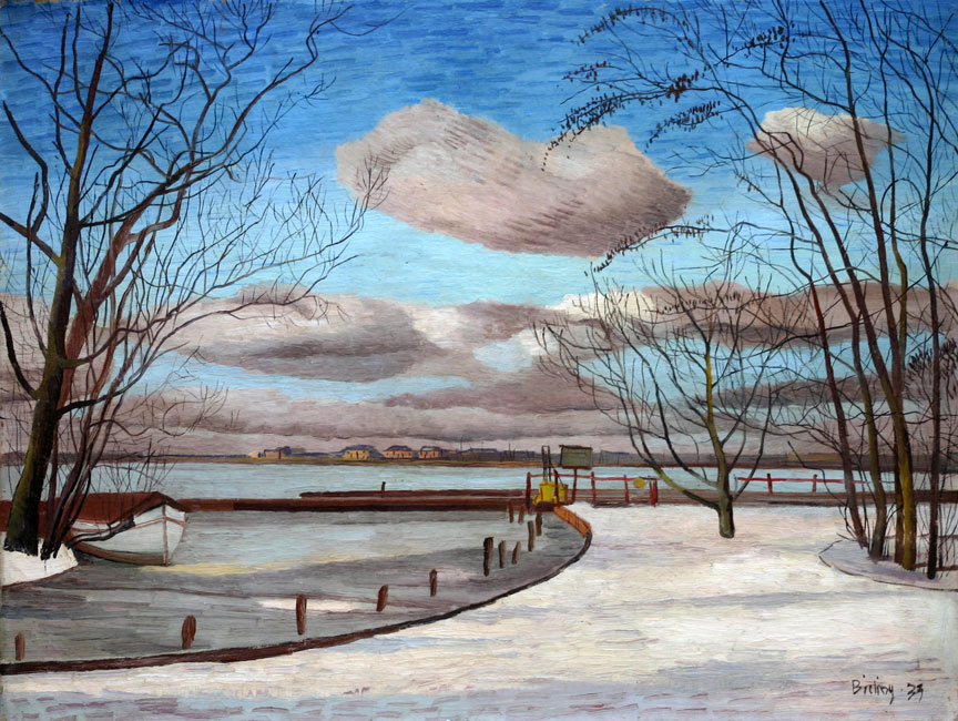 Wintergezicht bij Hillegersberg- Herman Bieling