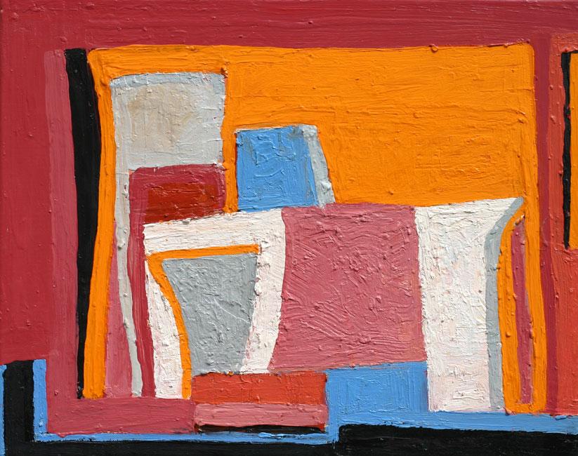 La rue jaune & rouge (Provence)- Theo Kuijpers