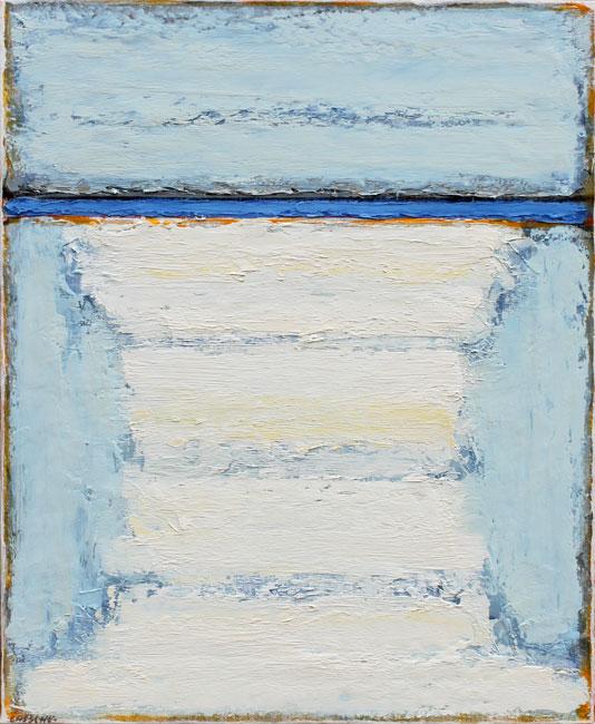 Spiegeling in de grijze zee- Henk Lassche