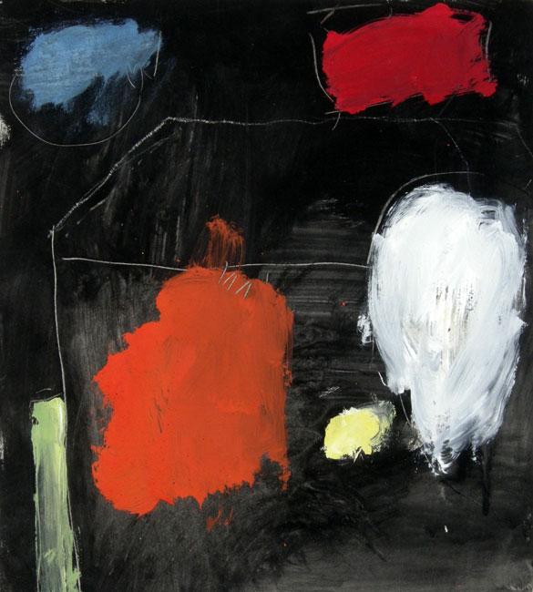 Kompositie op zwart fond- Eugene Brands