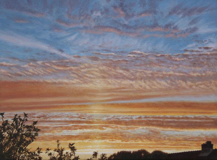 zonsondergan: cirrus [ 22-4-04. 20:38 - 20:42]- daan de Jong