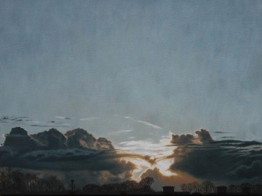 Zonsondergang: cumulus congestus ( Den Haag ) [26-3-04, 18:47 - 18:53]- daan de Jong