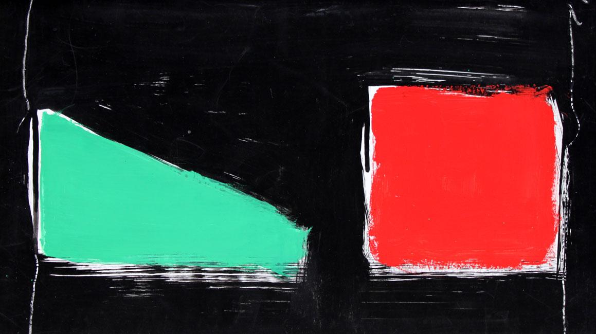 vert et rouge au fond cosmique- Eugene Brands