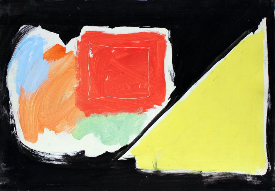 composition au carré jaune- Eugene Brands