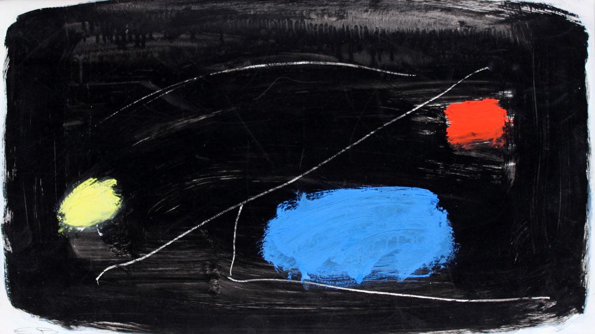 rouge, jaune et bleu au fond noir- Eugene Brands