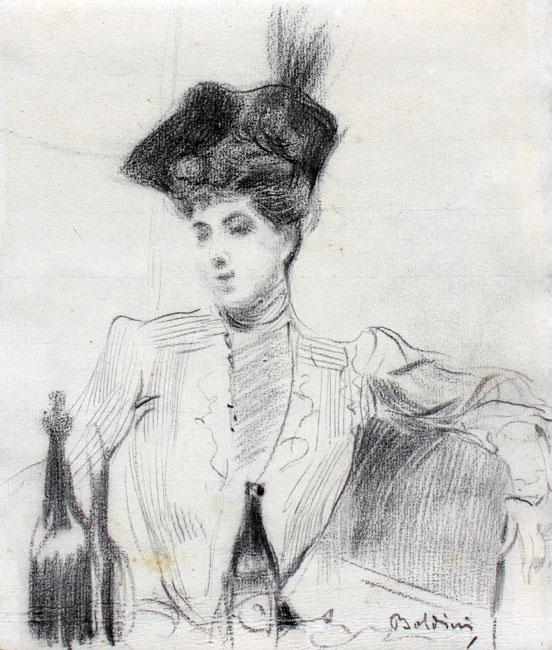 Jeune femme dans un restaurant- Giovanni Boldini