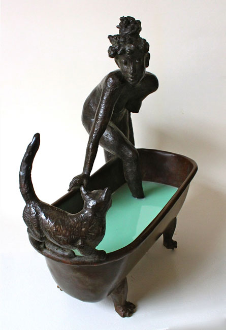 meisje in bad- Loek Bos