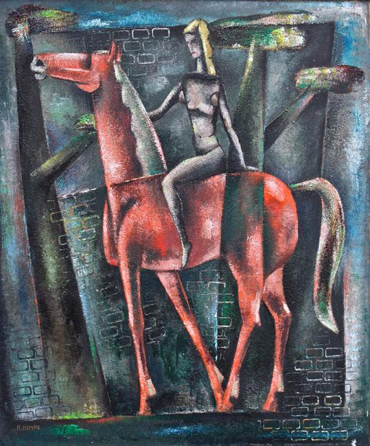 Dame te paard- Reimond Kimpe
