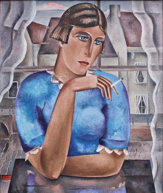 Jonge vrouw in blauw- Reimond Kimpe