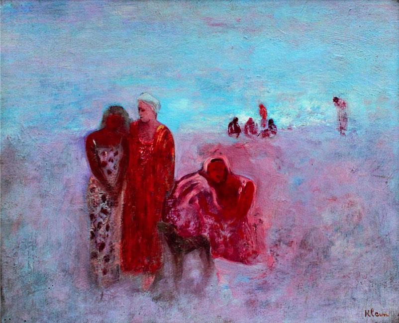 figuren op het strand- Frits Klein