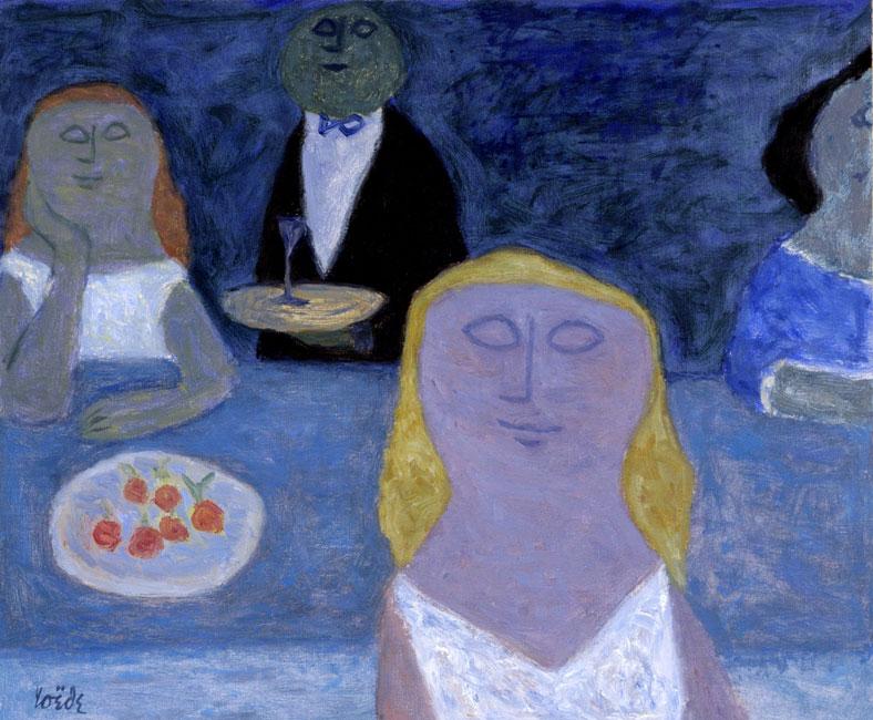 Het blauwe restaurant- Jan Roëde