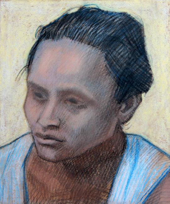 Portret van een Indonesische vrouw- Pieter Ouborg