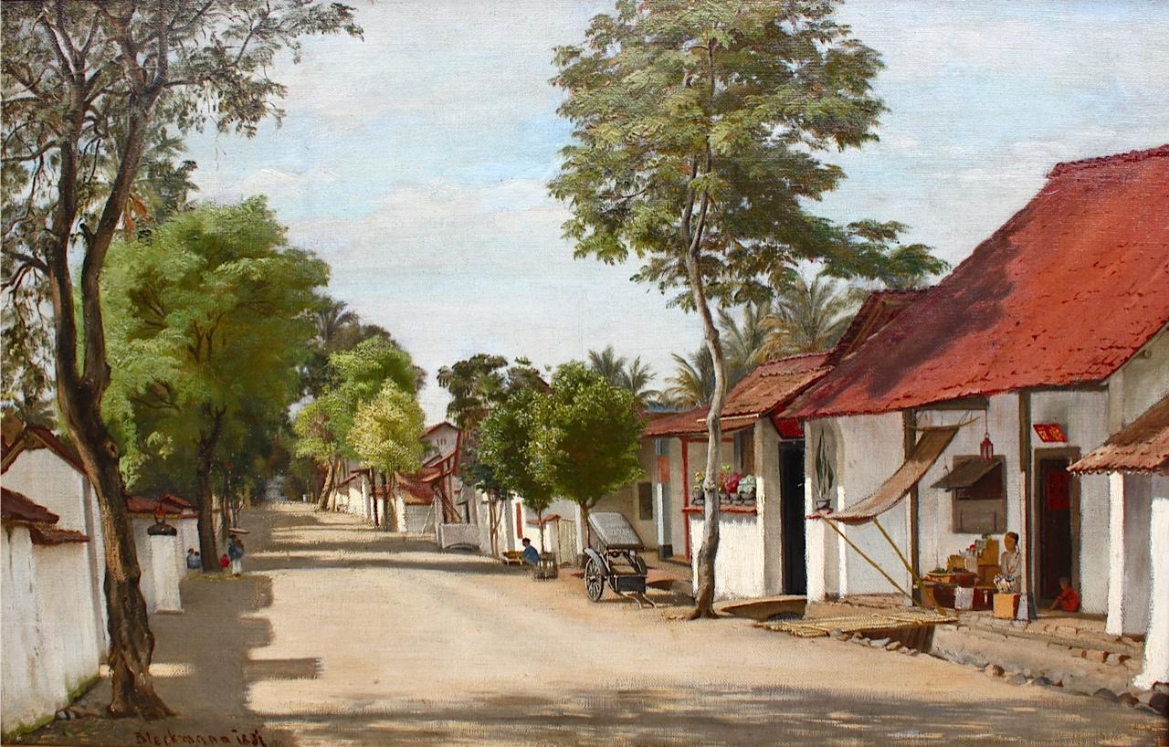 Straat in het Chinese kamp in Batavia- Wilhelm Bleckmann