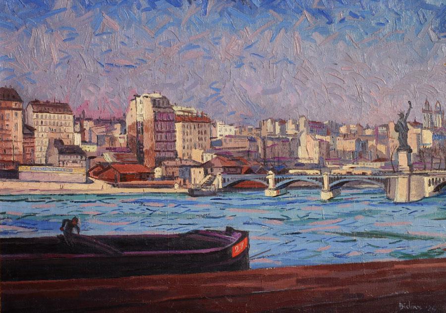 Parijs, gezicht op de Seine- Herman Bieling