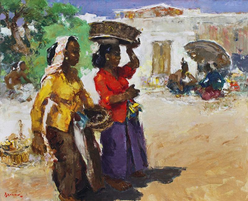 Vendueses Pasar Bali- Gerard Pieter Adolfs