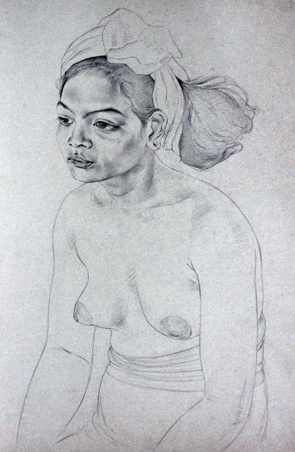 Sitting Balinese girl- Dolf Breetvelt