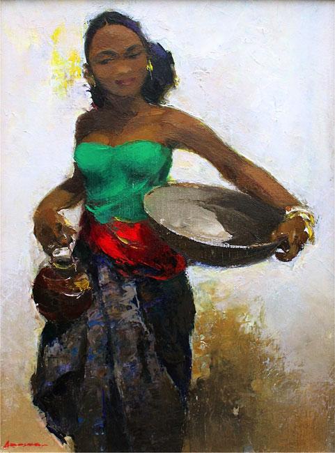 Marktvrouw op Oost-Java- Gerard Pieter Adolfs