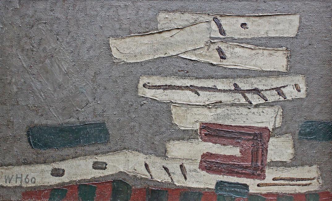 abstracte compositie 1960- Willem Hussem