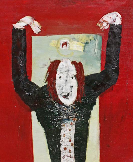 clown met rood haar- Jan van Heel