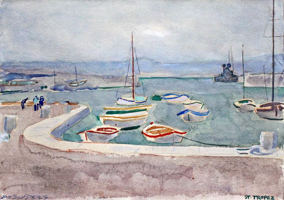 Boten in de haven van St. Tropez- Jan Sluijters