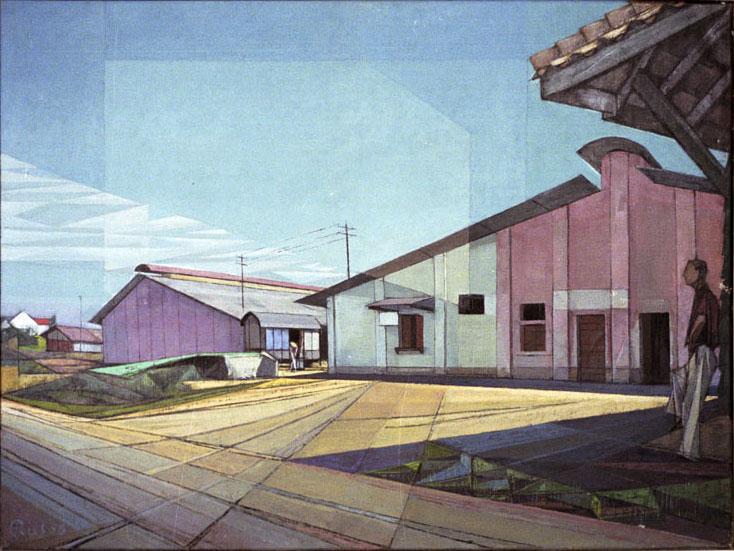 Trein station op Java- Ries Mulder