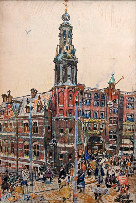 Gezicht op de Munt te Amsterdam- Martin Monnickendam