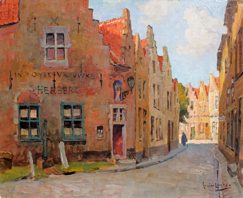 Herberg 'In 't onze Vrouwke' te Brugge- Eugene Lücker