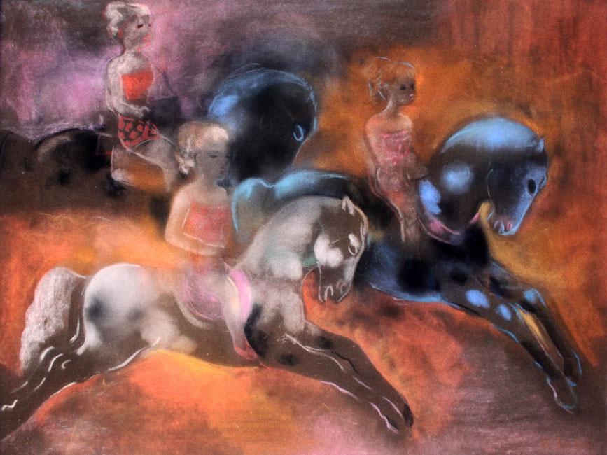 trois filles sur trois chevaux- Frits Klein
