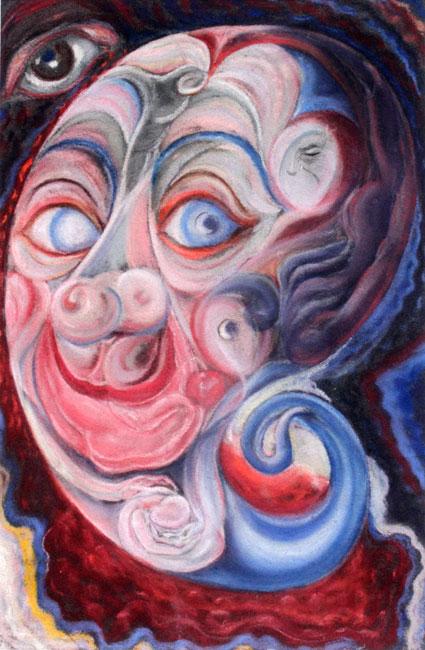 Surrealistisch zelfportret in pastel- Gerrit van 't Net