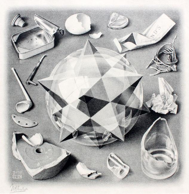 orde en chaos ( contrast ) /  order and chaos ( contrast )- Maurits Cornelis Escher