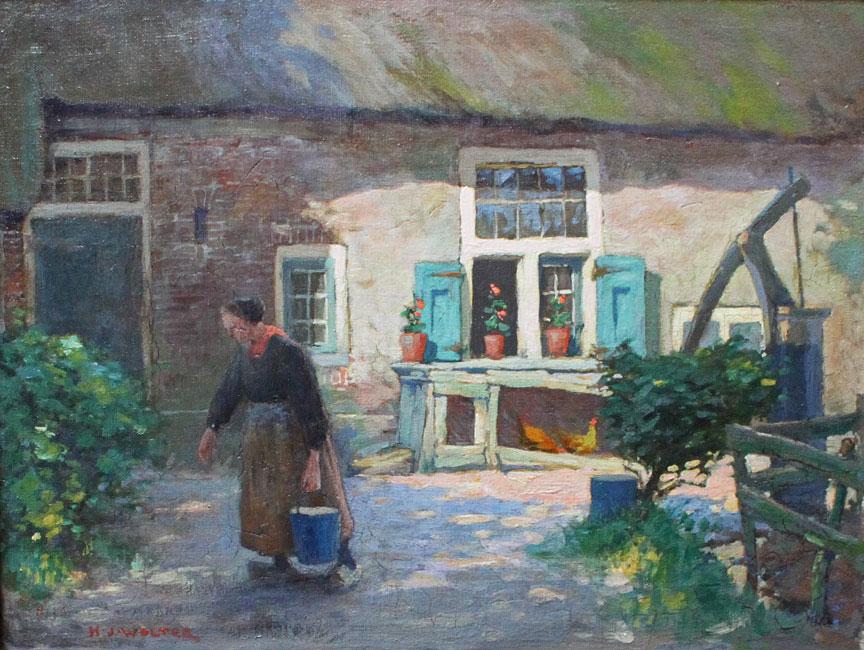 Zonnig erfje ( in de omgeving van Spakenburg - Bunschoten)- Hendrik Jan Wolter