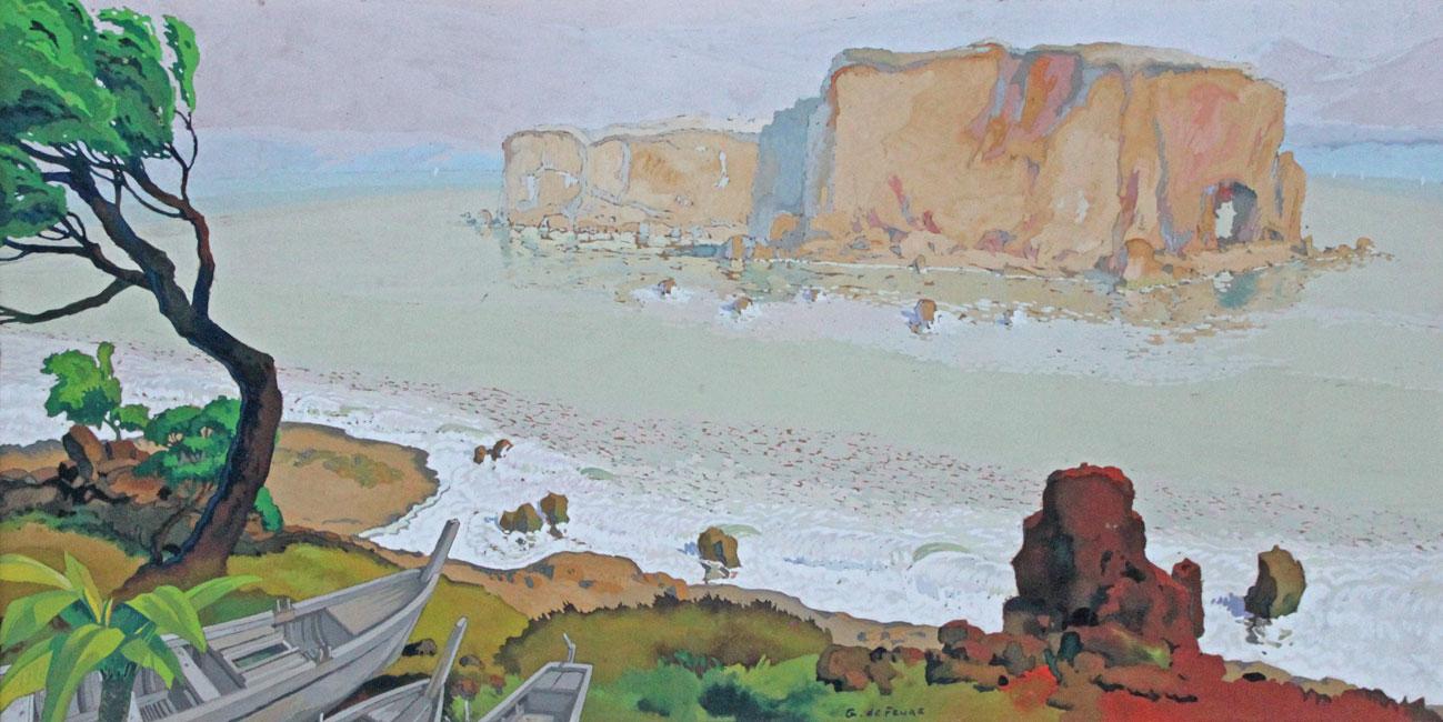Boten op de kust, Corsica- Georges de Feure