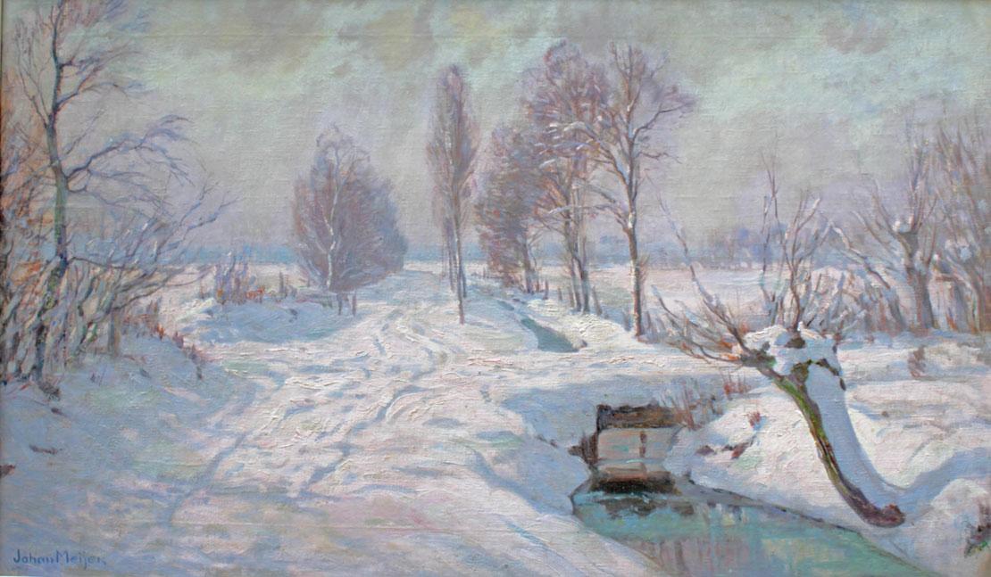 Winterlandschap in het Gooi- Johan Meijer