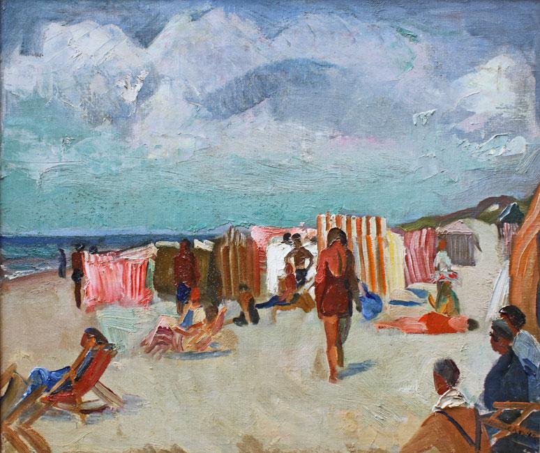 Zonnig strandgezicht- Harrie Kuijten