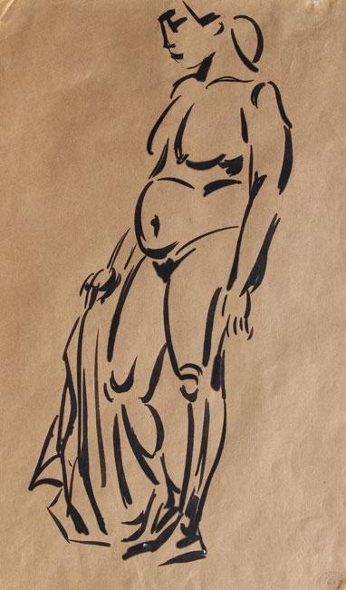 Standing nude- Pieter Ouborg