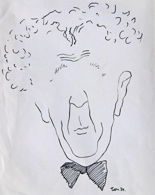 Portret van Wim Kan- Toon Hermans