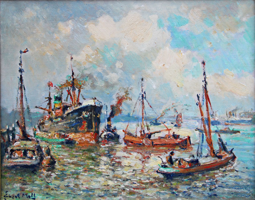 Zonnige dag in de Rotterdamse haven- Evert Moll