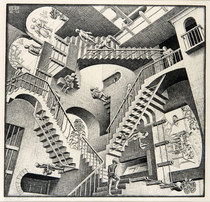 Relativity- Maurits Cornelis Escher