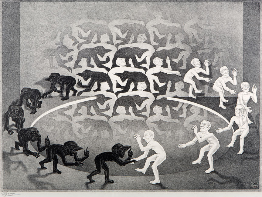 Encounter ( ontmoeting )- Maurits Cornelis Escher