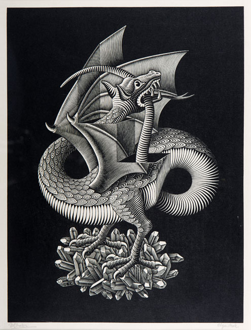 Dragon ( draak )- Maurits Cornelis Escher