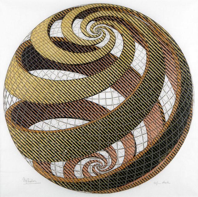 Sphere Spirals- Maurits Cornelis Escher