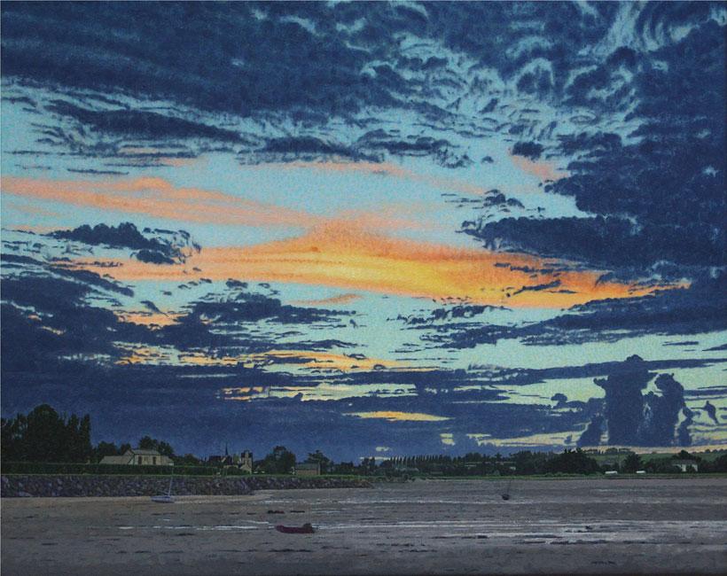 Le coucher du soleil à l'Anse de Paimpol- daan de Jong
