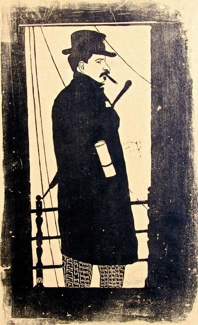 Zelfportret met jas en hoed ( H 003 )- Samuel Jessurun de Mesquita