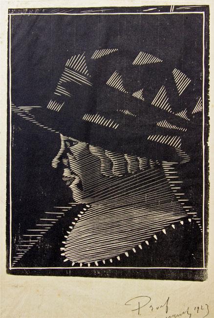 Profiel met hoed ( H 106 )- Samuel Jessurun de Mesquita