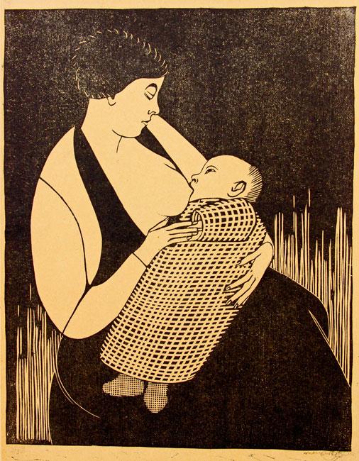 Moeder en kind ( H 081 III)- Samuel Jessurun de Mesquita