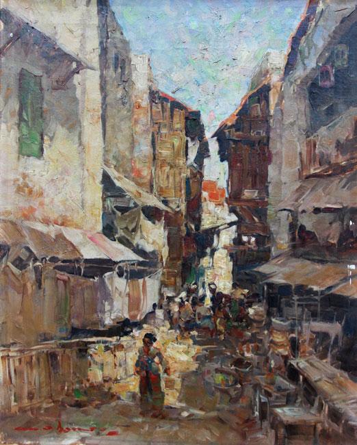 Gezicht in de oude wijk- Gerard Pieter Adolfs