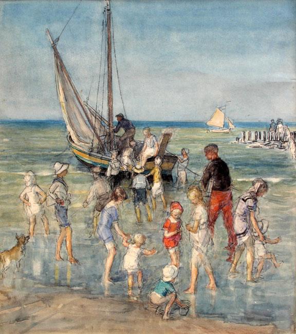 Strandvertier Scheveningen- Johan Antonie Jan de Jonge