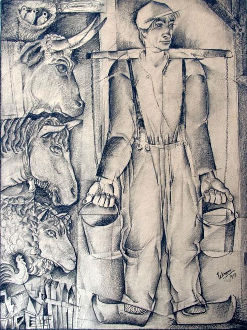 De boer en zijn dieren  /Le fermier et ses animaux- Nicolaas Eekman