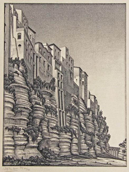 Tropea, Calabria- Maurits Cornelis Escher