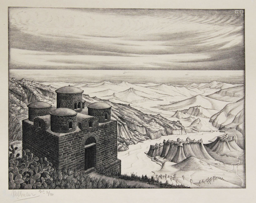 Cattolica of Stilo, Calabria- Maurits Cornelis Escher